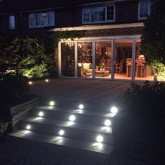 Millboard Golden Oak with Lighting – West Sussex